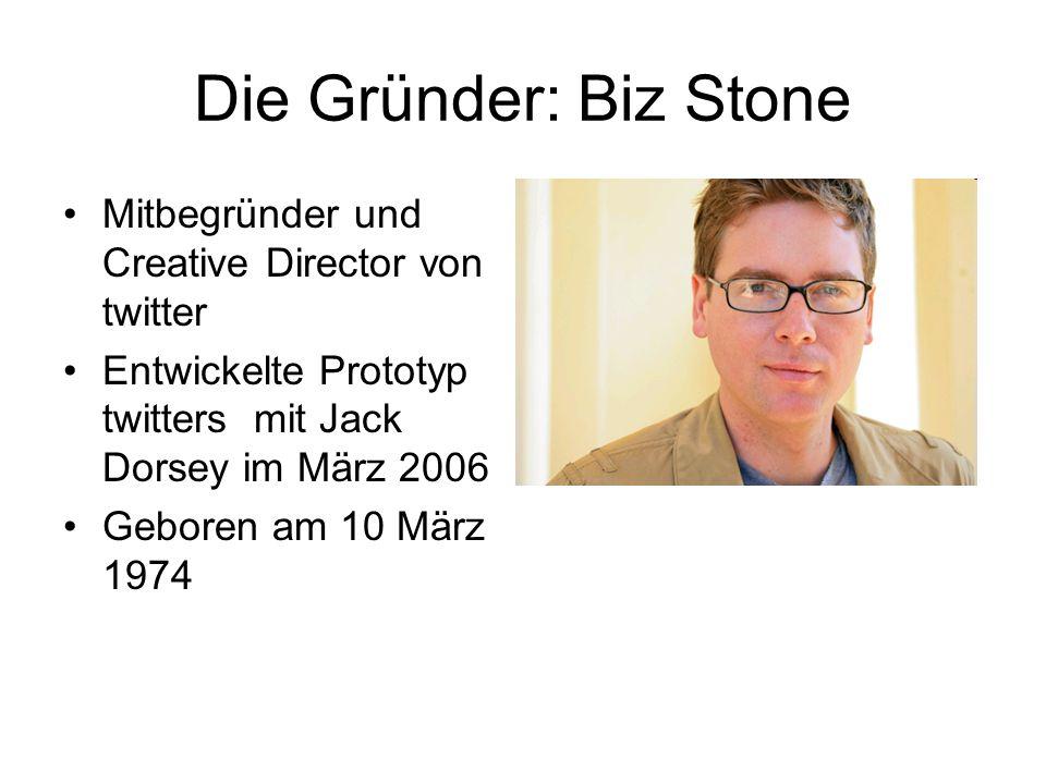 Die Gründer: Biz Stone Mitbegründer und Creative Director von twitter