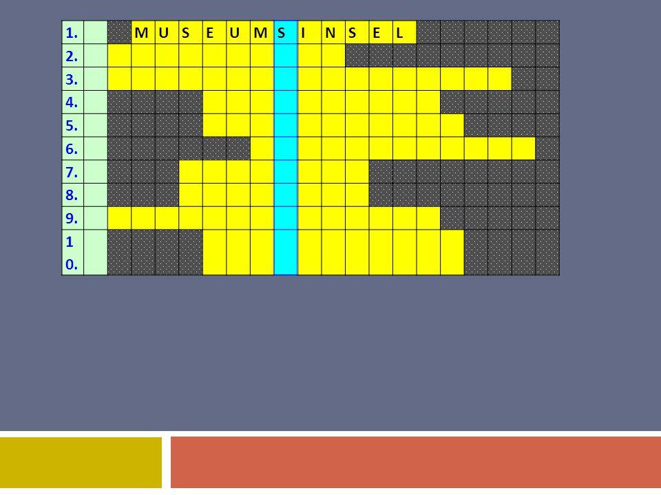 1. M U S E I N L 2. 3. 4. 5. 6. 7. 8. 9. 1 0.