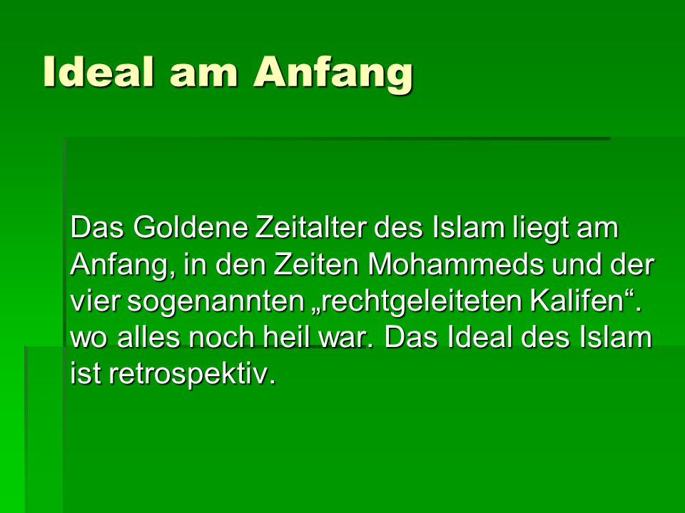 Ideal am Anfang