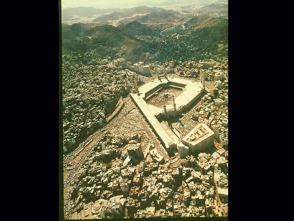Dieses Bild zeigt Mekka, für Muslime in aller Welt die Mutter der Städte , vor Medina und Jerusalem, die heiligste Stadt des Islam.