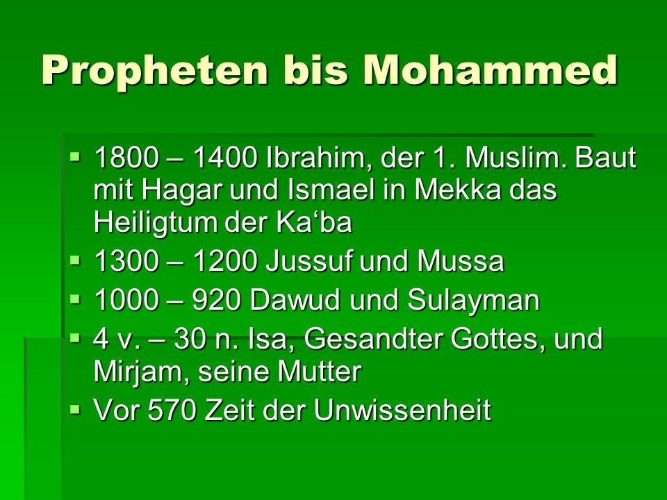 Propheten bis Mohammed