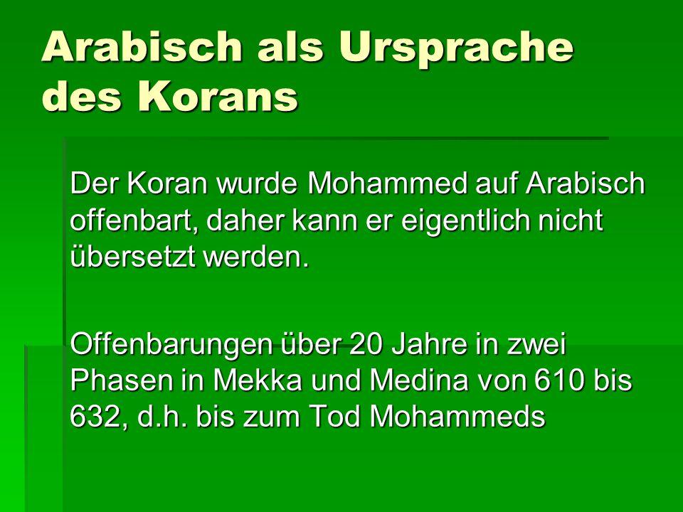Arabisch als Ursprache des Korans