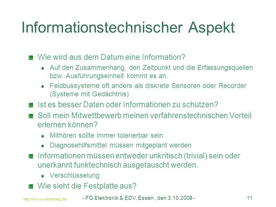 Informationstechnischer Aspekt