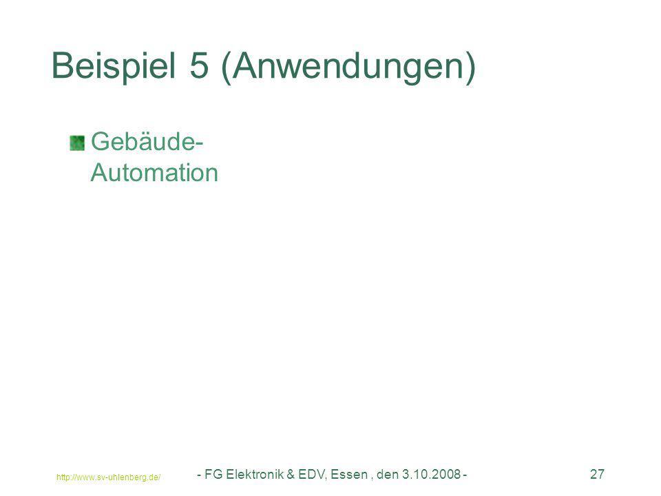 Beispiel 5 (Anwendungen)