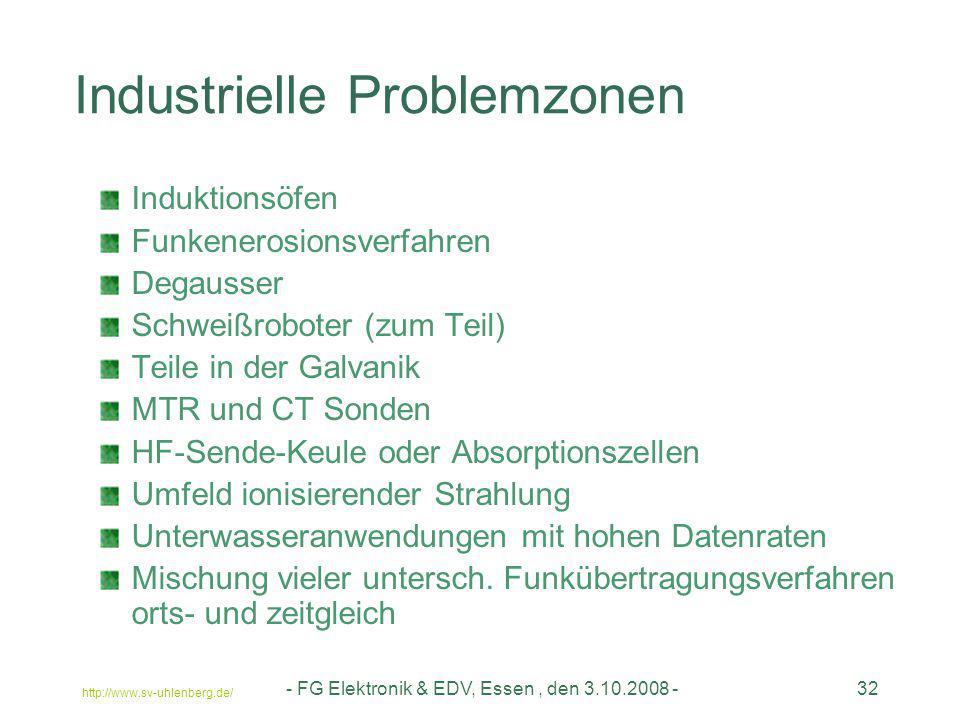 Industrielle Problemzonen