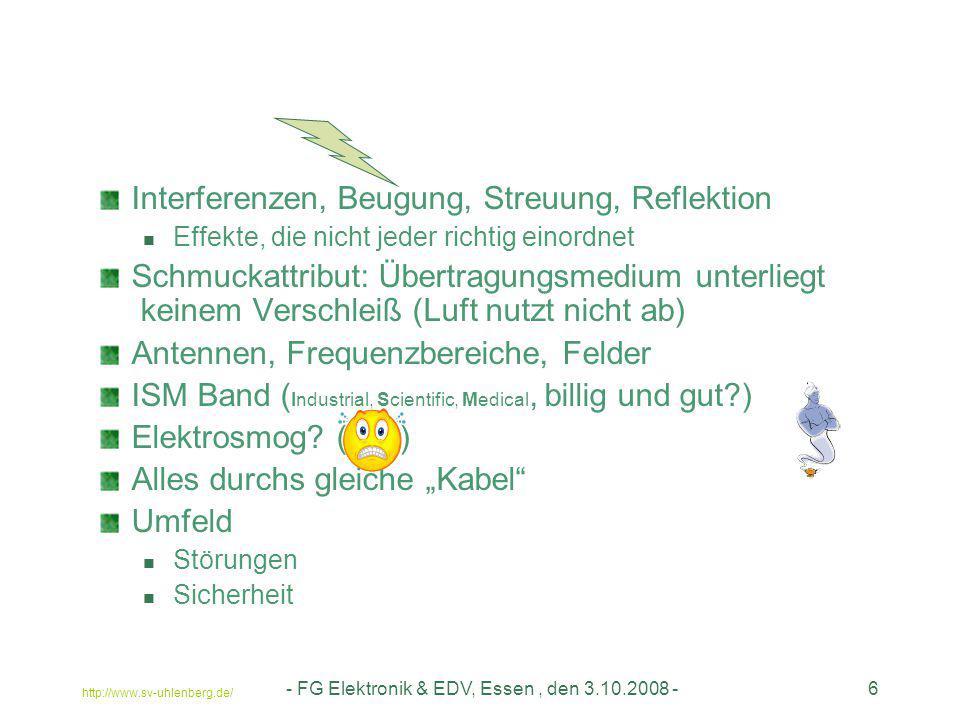 - FG Elektronik & EDV, Essen, den 3.10.2008 -