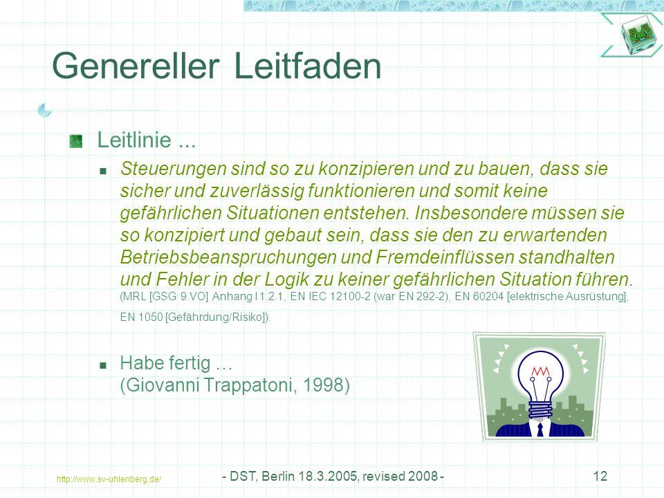 Genereller Leitfaden Leitlinie ...