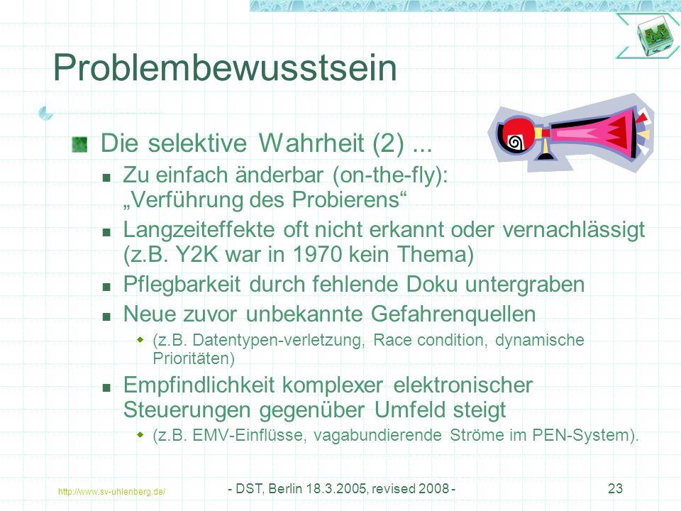 Problembewusstsein Die selektive Wahrheit (2) ...