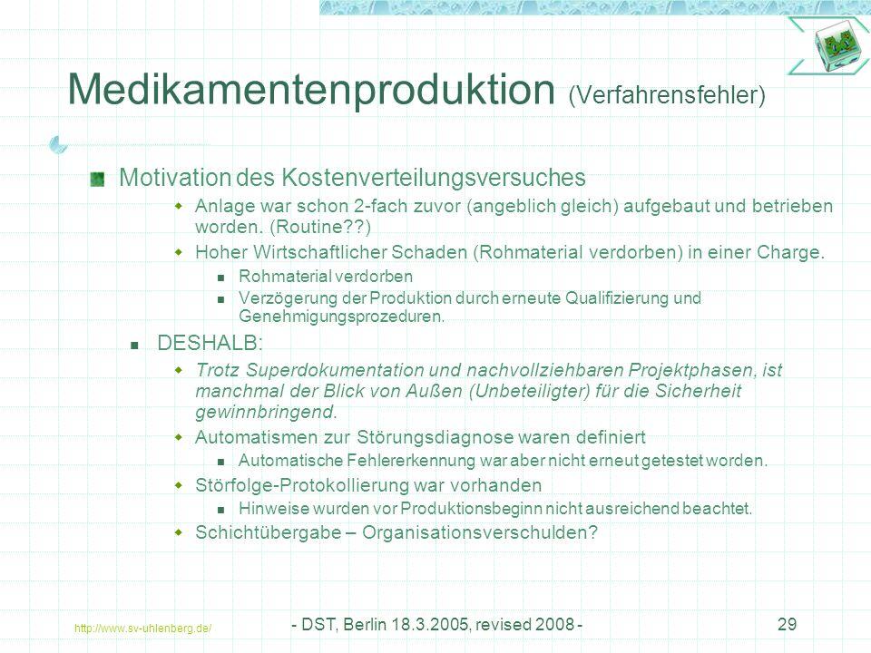Medikamentenproduktion (Verfahrensfehler)