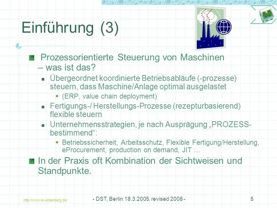 Einführung (3) Prozessorientierte Steuerung von Maschinen – was ist das