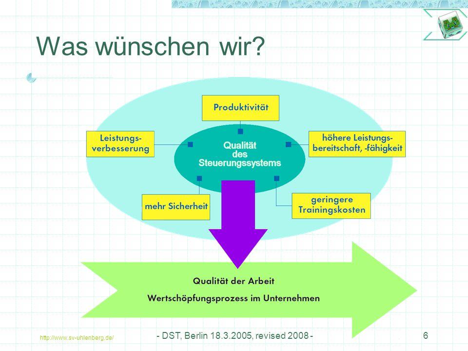 Was wünschen wir - DST, Berlin 18.3.2005, revised 2008 -