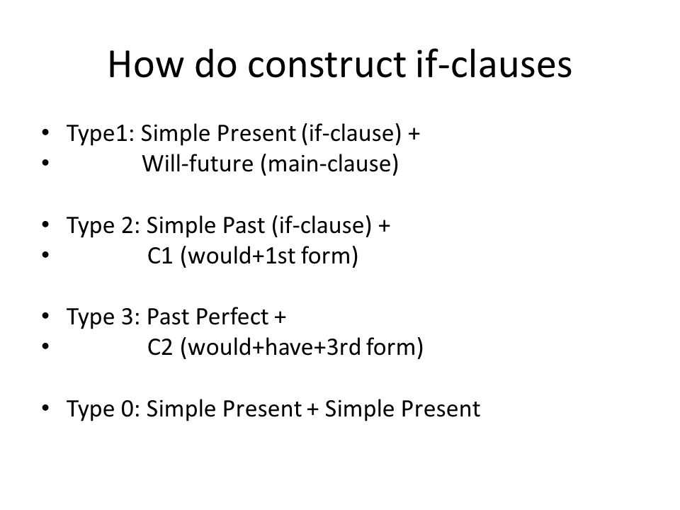 How do construct if-clauses