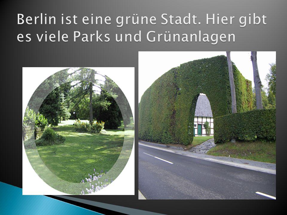 Berlin ist eine grüne Stadt. Hier gibt es viele Parks und Grünanlagen