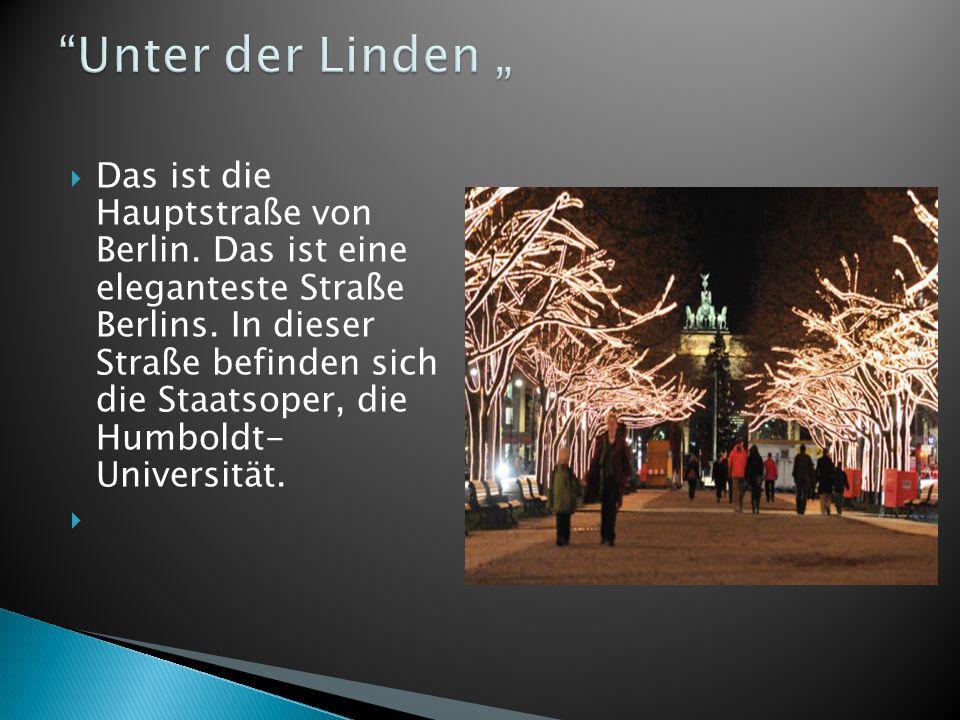 """Unter der Linden """""""