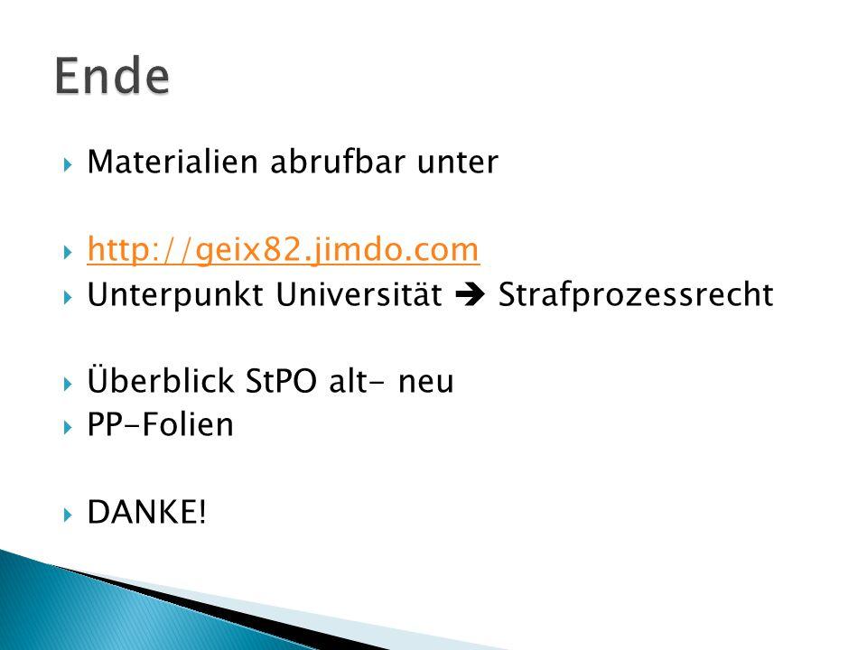 Ende Materialien abrufbar unter http://geix82.jimdo.com