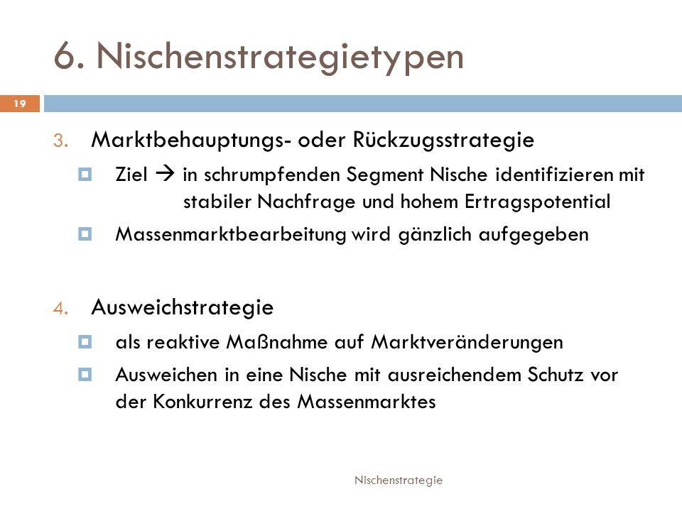 6. Nischenstrategietypen