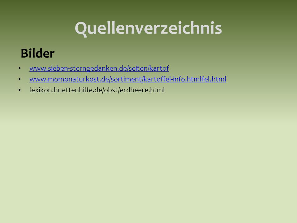 Quellenverzeichnis Bilder www.sieben-sterngedanken.de/seiten/kartof