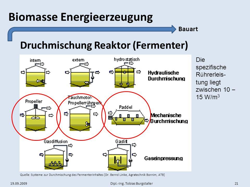 Druchmischung Reaktor (Fermenter)