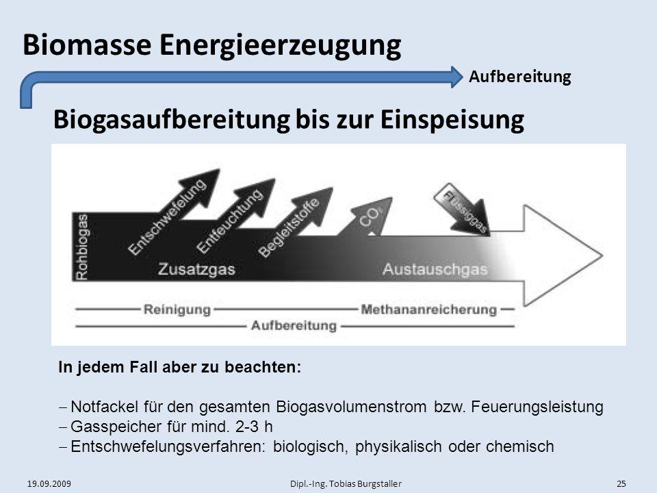 Biogasaufbereitung bis zur Einspeisung