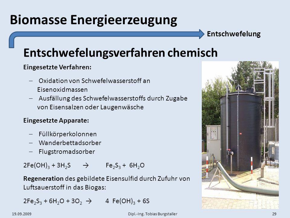 Entschwefelungsverfahren chemisch