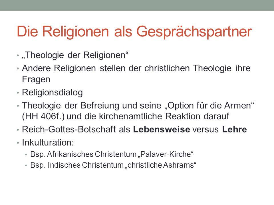Die Religionen als Gesprächspartner