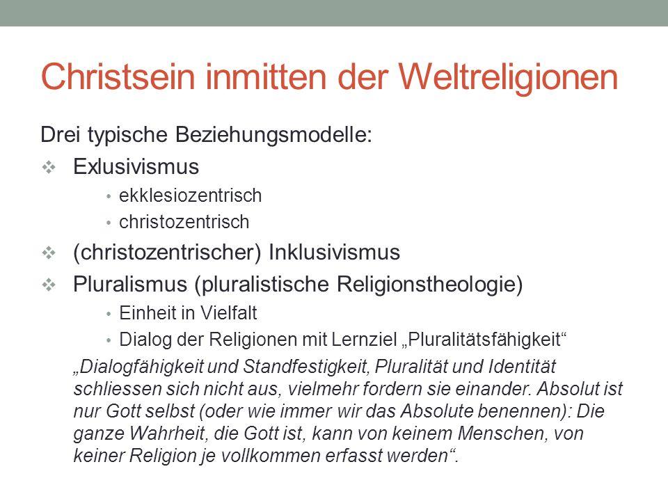 Christsein inmitten der Weltreligionen