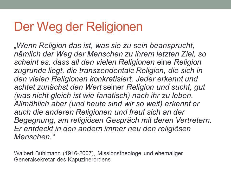 Der Weg der Religionen