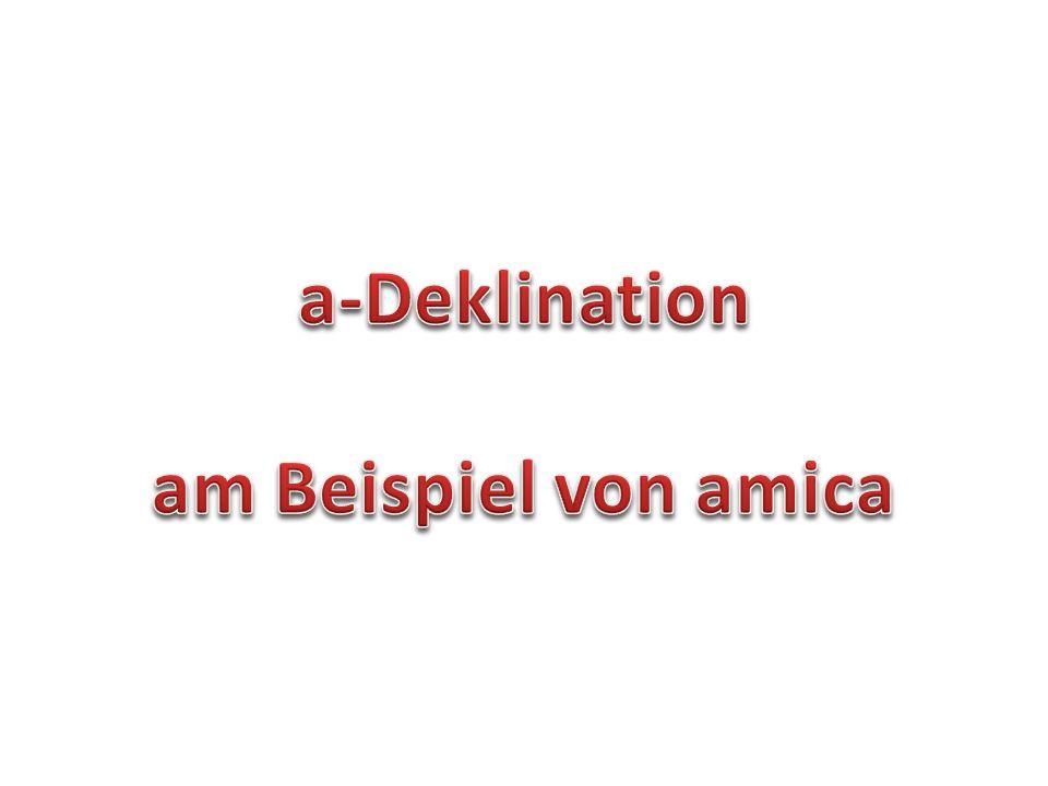 a-Deklination am Beispiel von amica