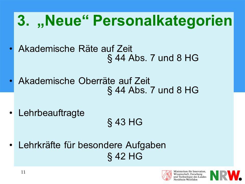 "3. ""Neue Personalkategorien"