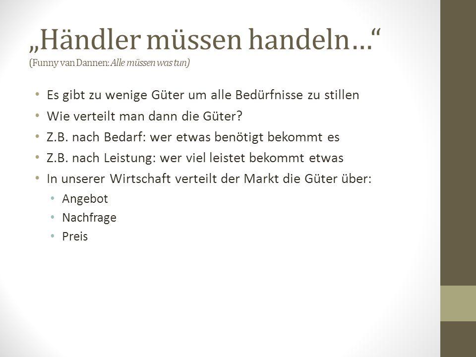 """""""Händler müssen handeln… (Funny van Dannen: Alle müssen was tun)"""