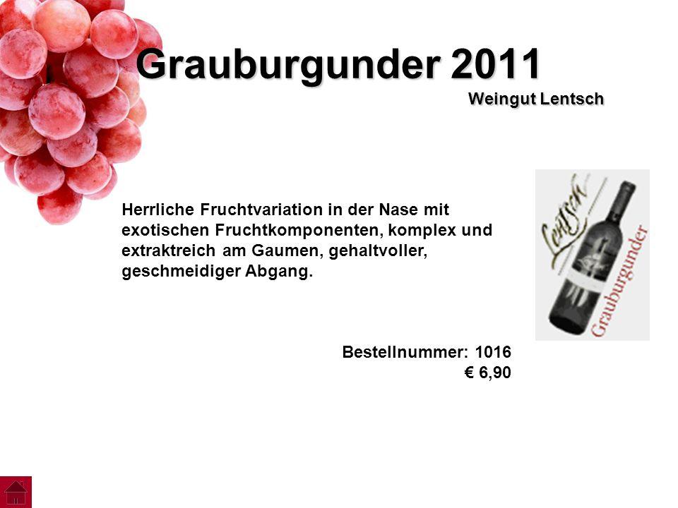 Grauburgunder 2011 Weingut Lentsch
