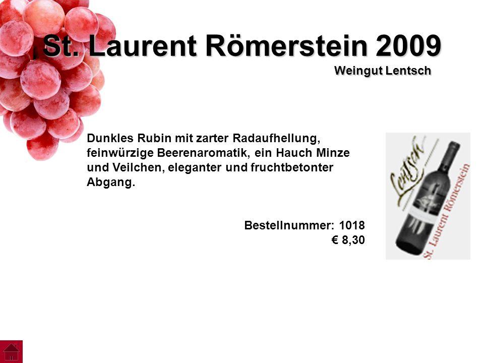 St. Laurent Römerstein 2009 Weingut Lentsch