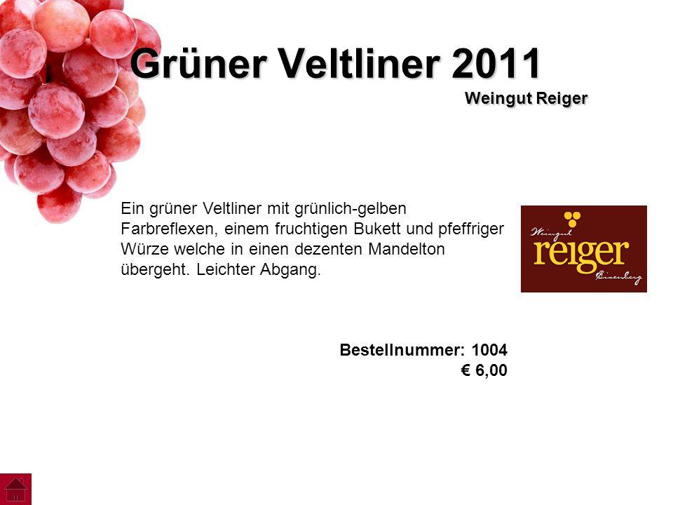 Grüner Veltliner 2011 Weingut Reiger