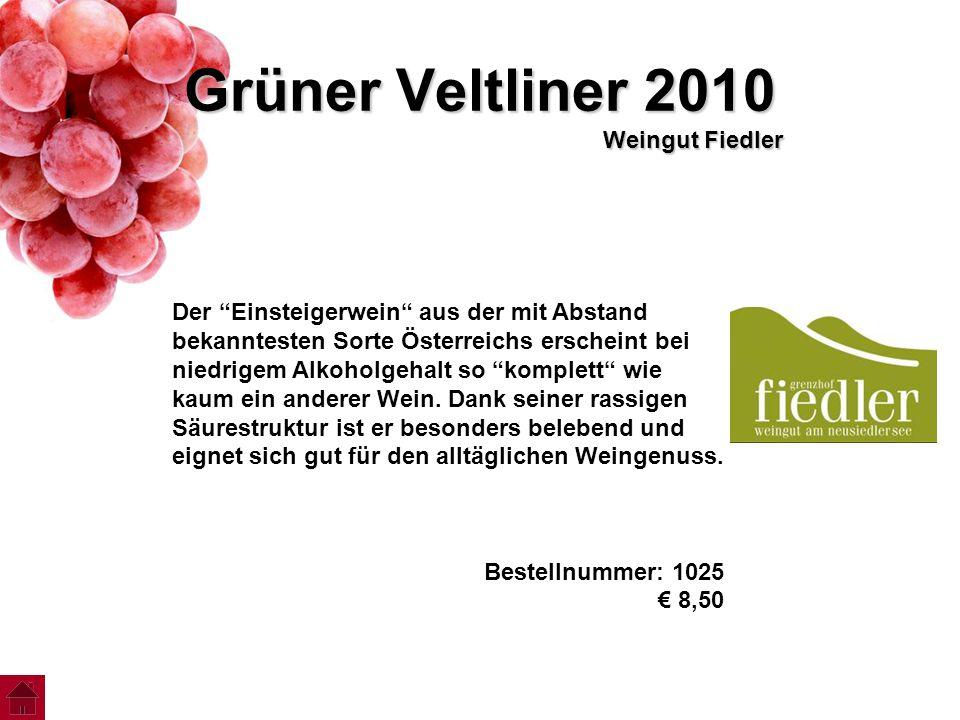 Grüner Veltliner 2010 Weingut Fiedler