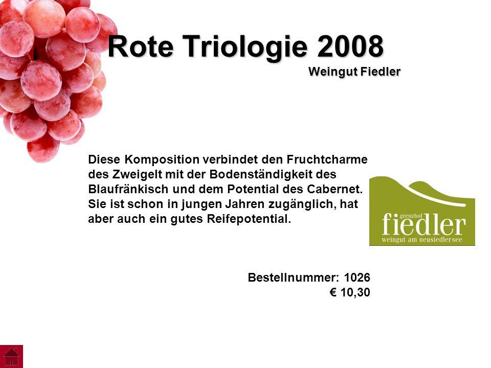 Rote Triologie 2008 Weingut Fiedler