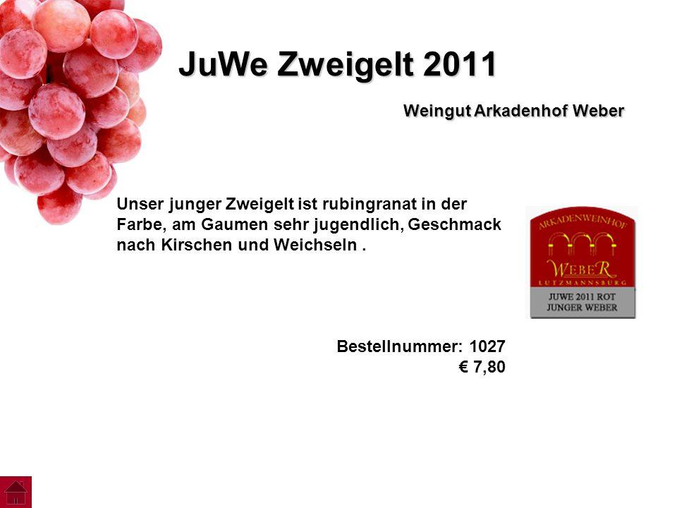 JuWe Zweigelt 2011 Weingut Arkadenhof Weber