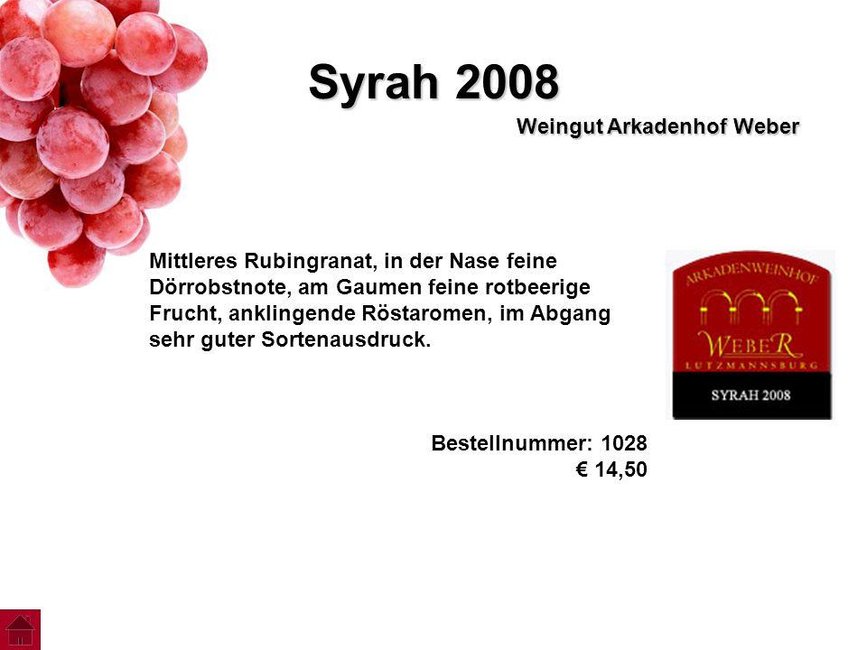 Syrah 2008 Weingut Arkadenhof Weber