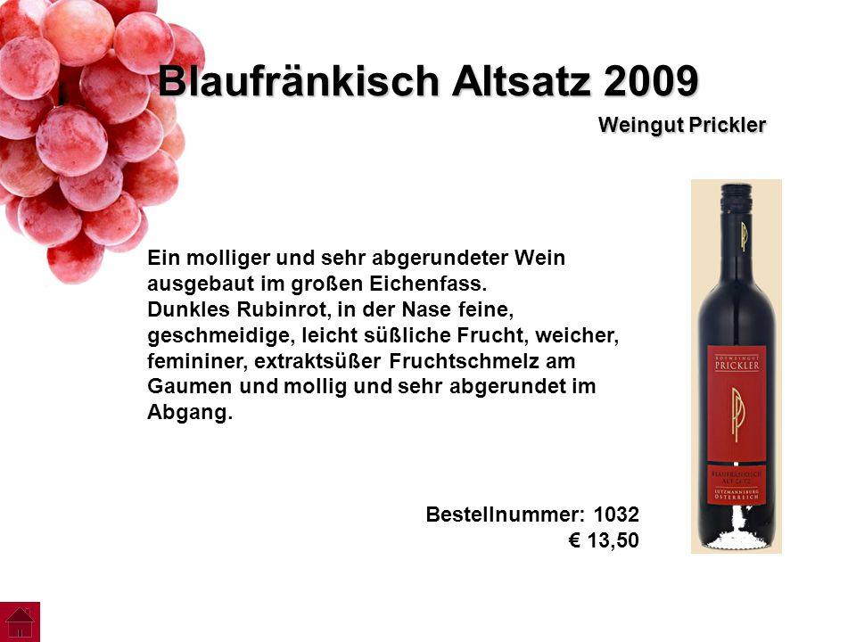 Blaufränkisch Altsatz 2009