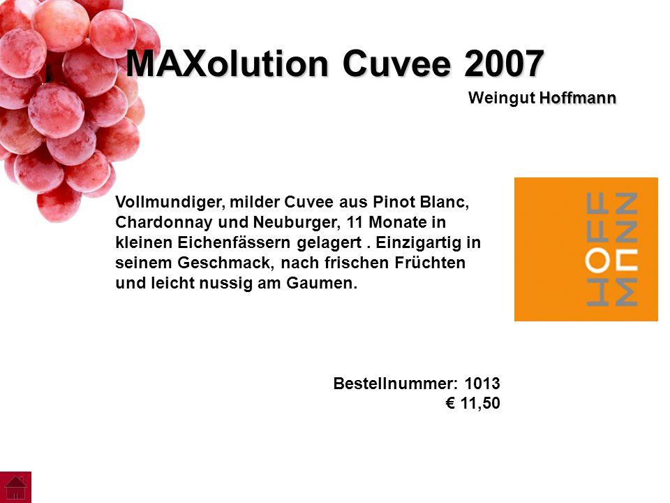 MAXolution Cuvee 2007 Weingut Hoffmann