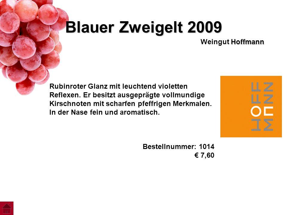 Blauer Zweigelt 2009 Weingut Hoffmann
