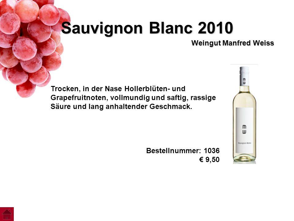 Sauvignon Blanc 2010 Weingut Manfred Weiss