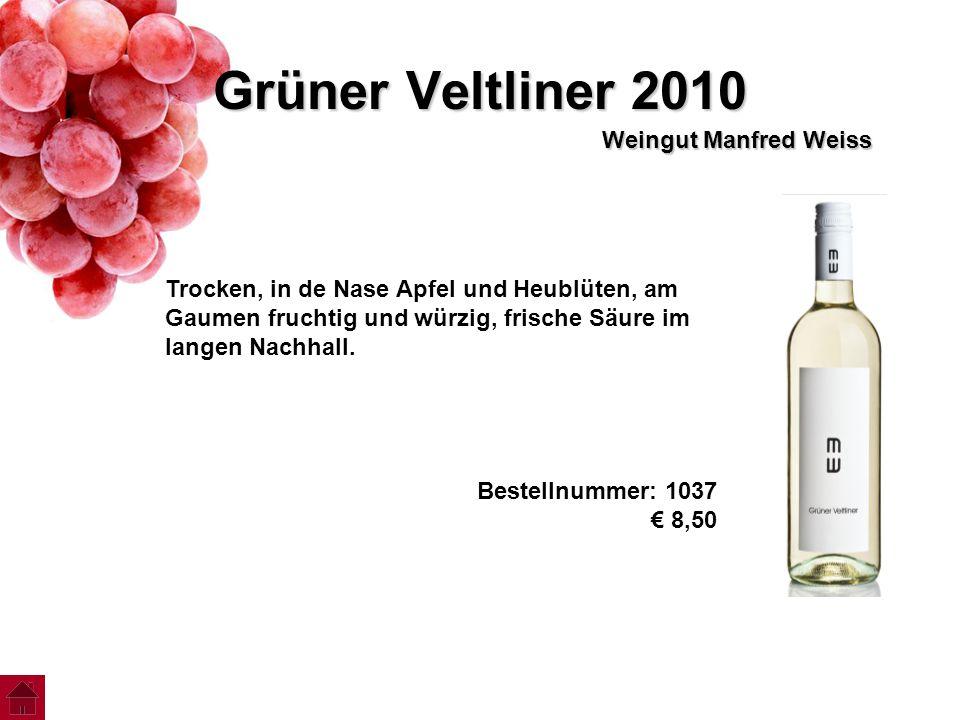 Grüner Veltliner 2010 Weingut Manfred Weiss