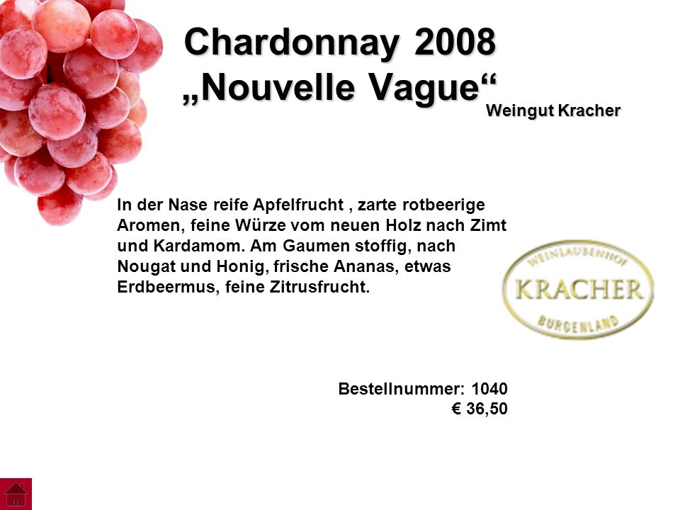 "Chardonnay 2008 ""Nouvelle Vague"
