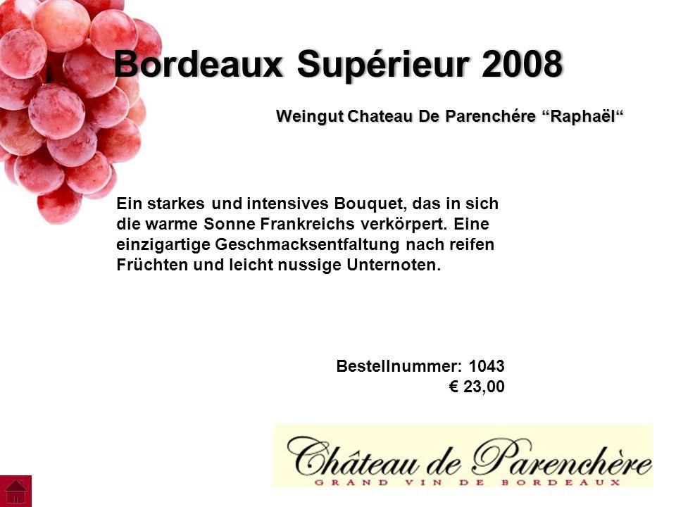 Bordeaux Supérieur 2008 Weingut Chateau De Parenchére Raphaёl