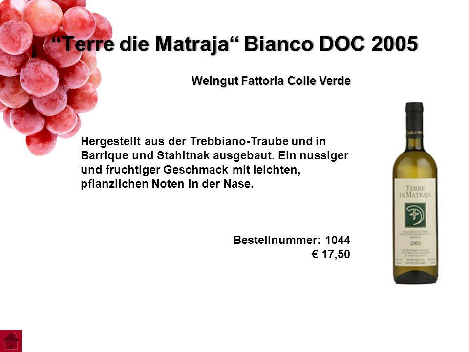 Terre die Matraja Bianco DOC 2005