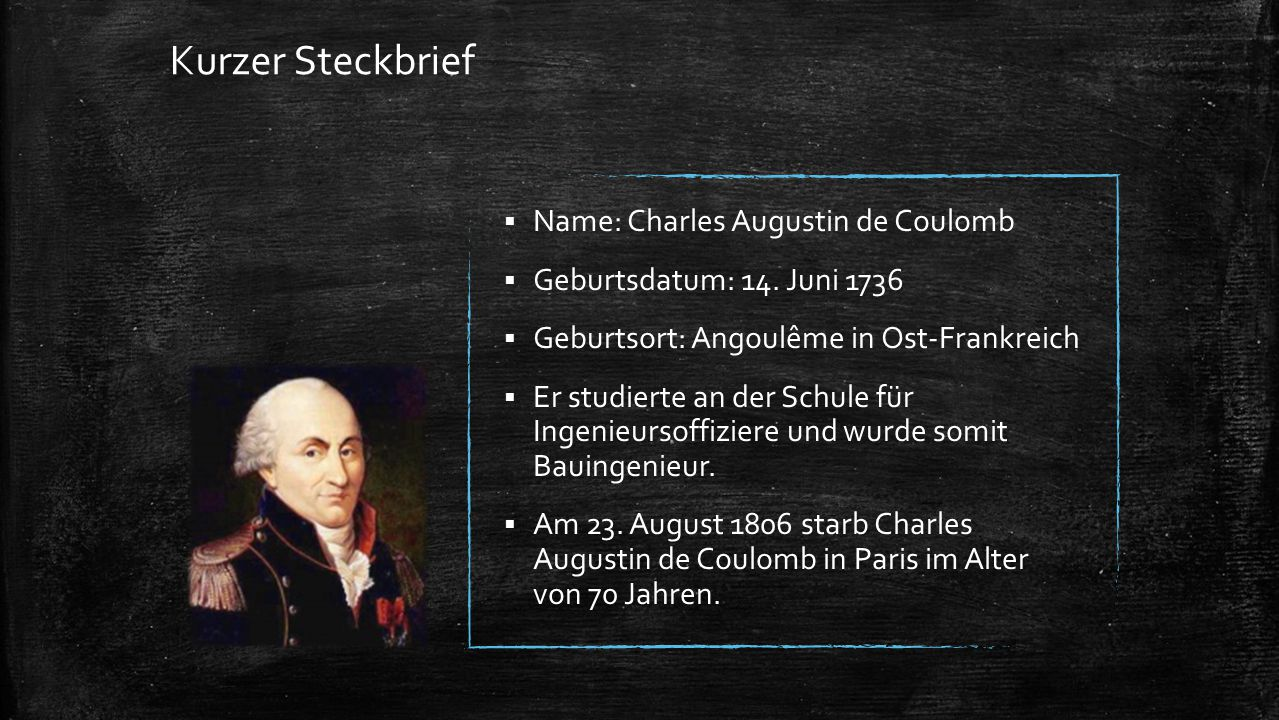 charles augustin de coulomb ppt video online herunterladen. Black Bedroom Furniture Sets. Home Design Ideas