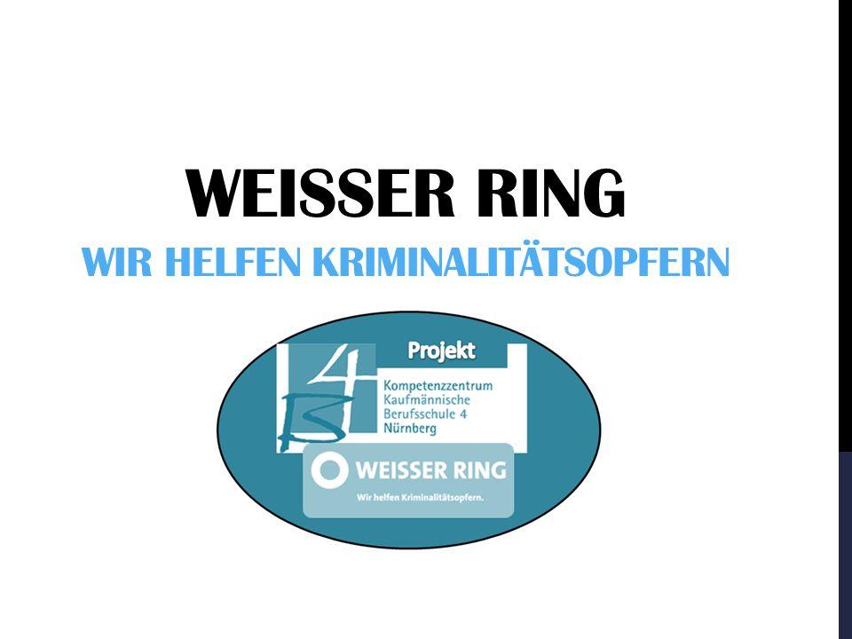 Weisser Ring Wir helfen kriminalitätsopfern