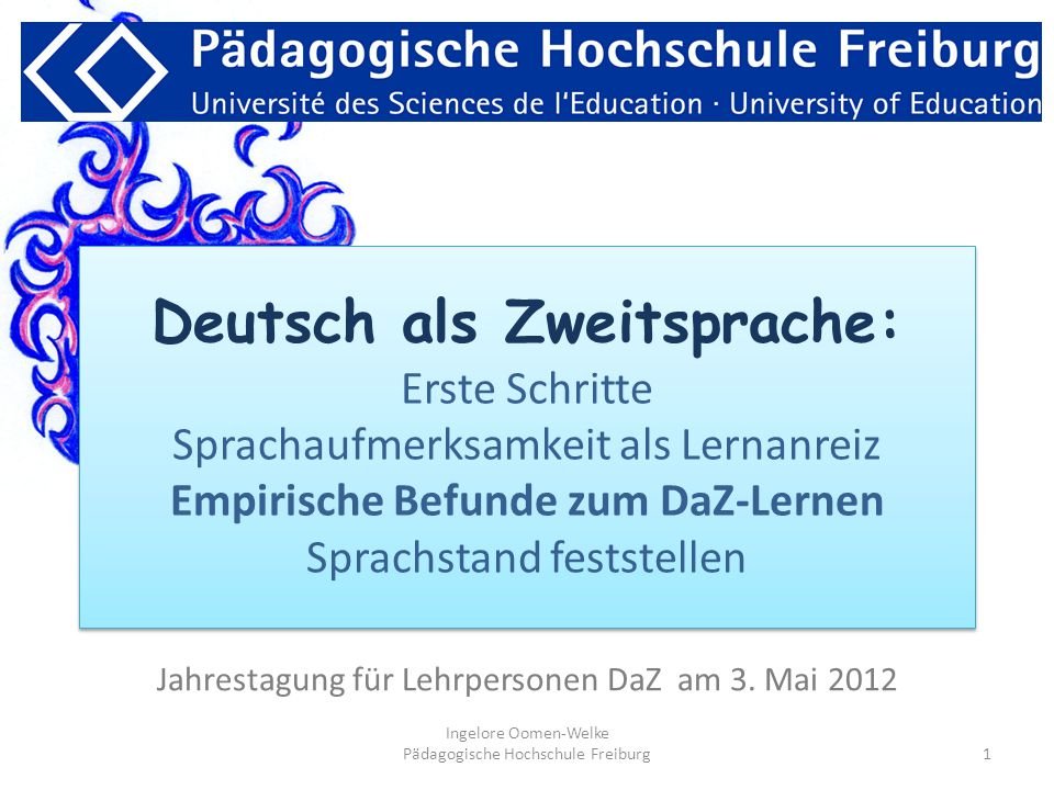 Jahrestagung für Lehrpersonen DaZ am 3. Mai 2012