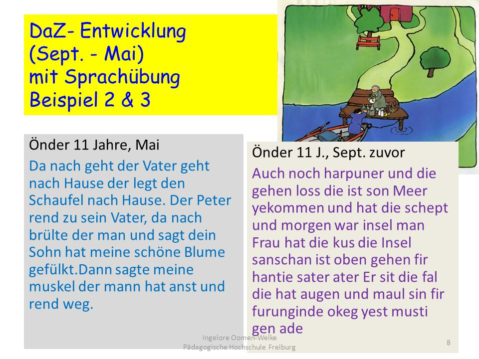 DaZ- Entwicklung (Sept. - Mai) mit Sprachübung Beispiel 2 & 3