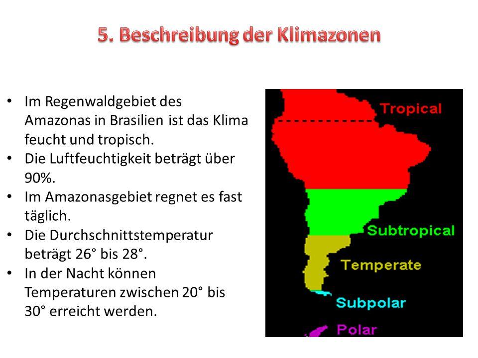 5. Beschreibung der Klimazonen